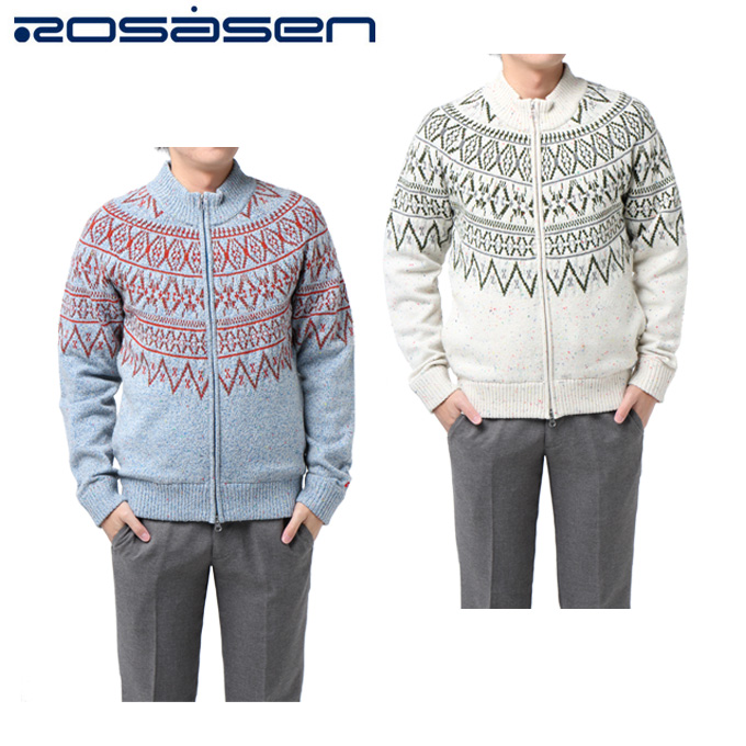 ロサーセン ROSASEN ゴルフウェア セーター メンズ 杢ネップブルゾン 044-16110