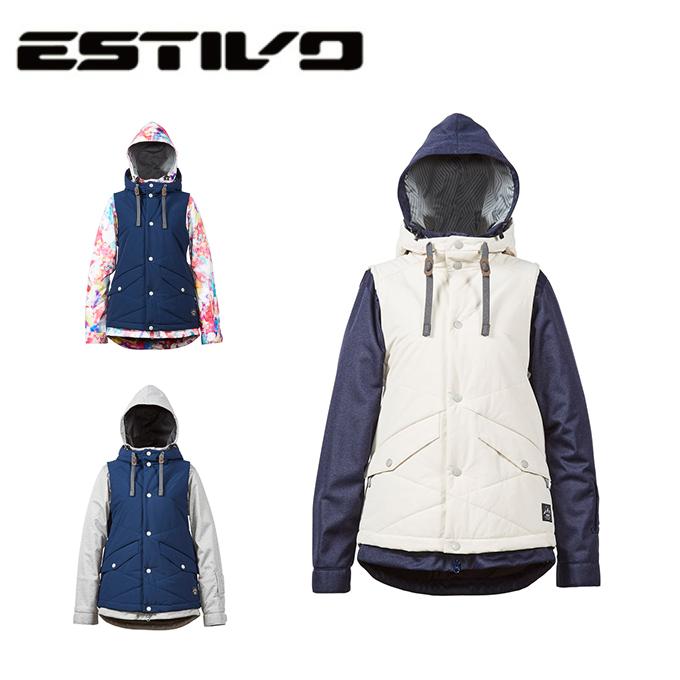 エスティボ ESTIVO スノーボードウェア ジャケット レディース SNB JK EVW1732
