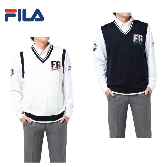 フィラ FILA ゴルフウェア シャツセット メンズ ニットベスト&長袖BDNポロセット 787-800