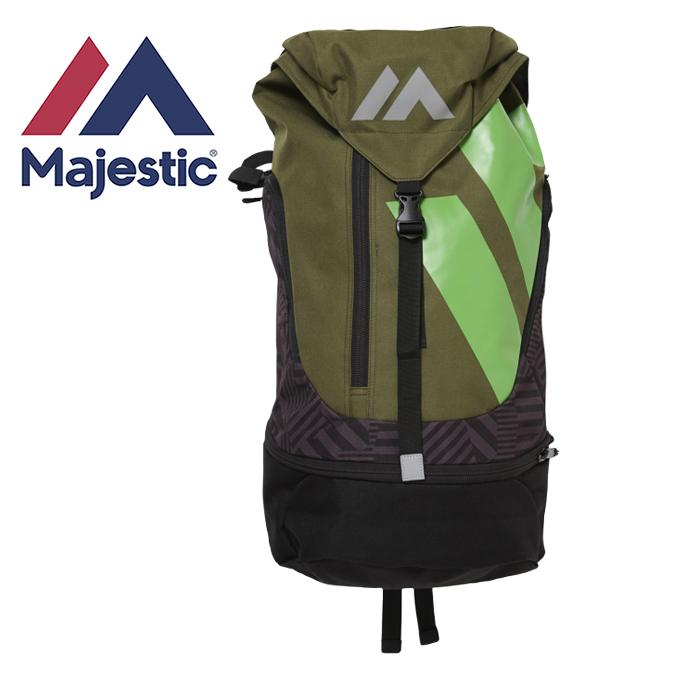 マジェスティック 野球 バックパック 2017AW Authentic Practice Back Pack Large NEW COLORカーキ XM13-KHK7-MAJ-0002 Majestic