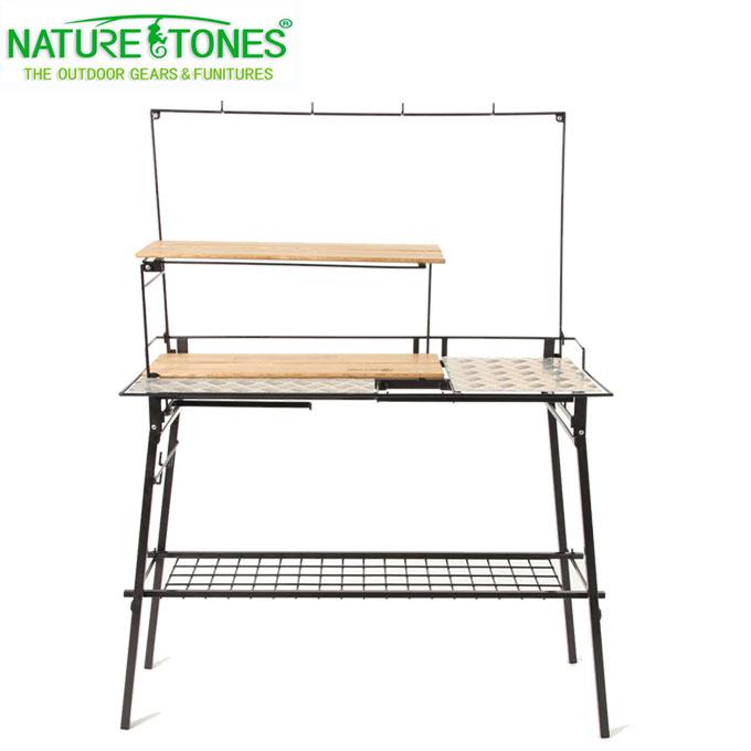 ネイチャートーンズ NATURE TONES アウトドアテーブル キッチンカウンターテーブル+オプションセット THE KITCHEN COUNTER TABLE