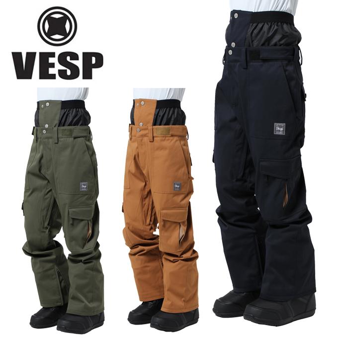 ベスプ VESP スノーボードウェア パンツ コーデュラ ストレッチ スタンダード カーゴー パンツ BBMP17-01
