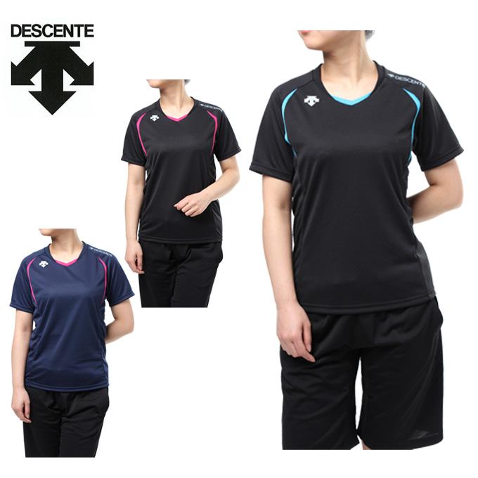 購入後レビュー記入でクーポンプレゼント中 デサント オーバーのアイテム取扱☆ バレーボールウェア 半袖シャツ メンズ プラシャツ 予約販売 DESCENTE DOR-B8987 レディース