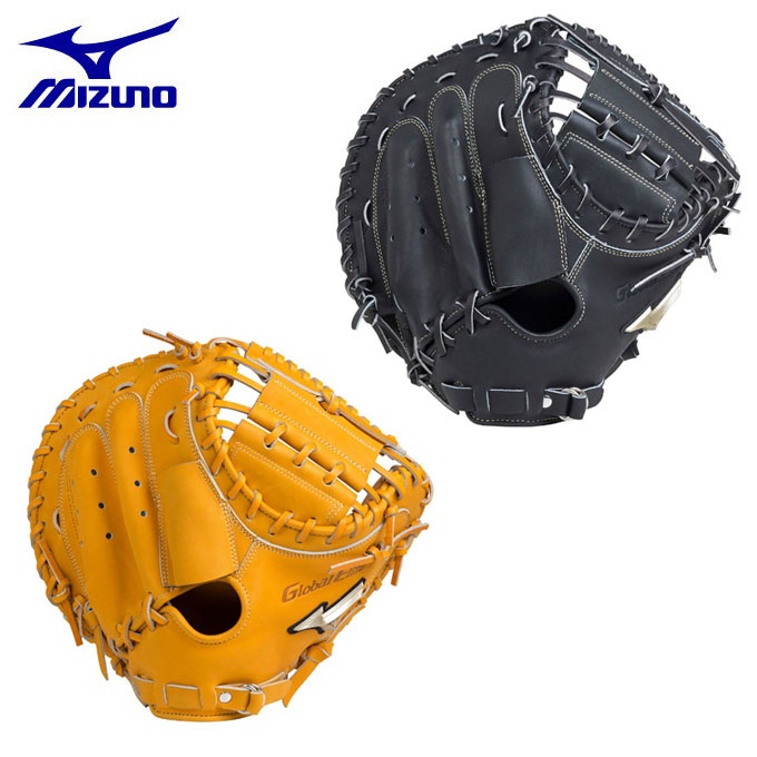ミズノ MIZUNO 野球 一般軟式グラブ 捕手用 軟式用 グローバルエリート ミット革命 捕手用 C-5型 コネクトバック 1AJCR18310
