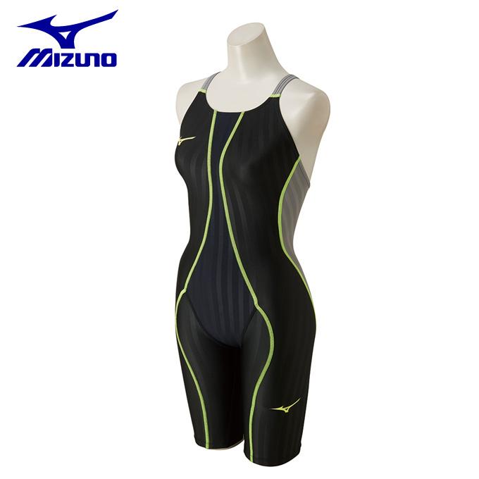 ミズノ MIZUNO FINA承認 競泳水着 ハーフスパッツ ジュニア FX-SONIC ハーフスーツ N2MG8430-90