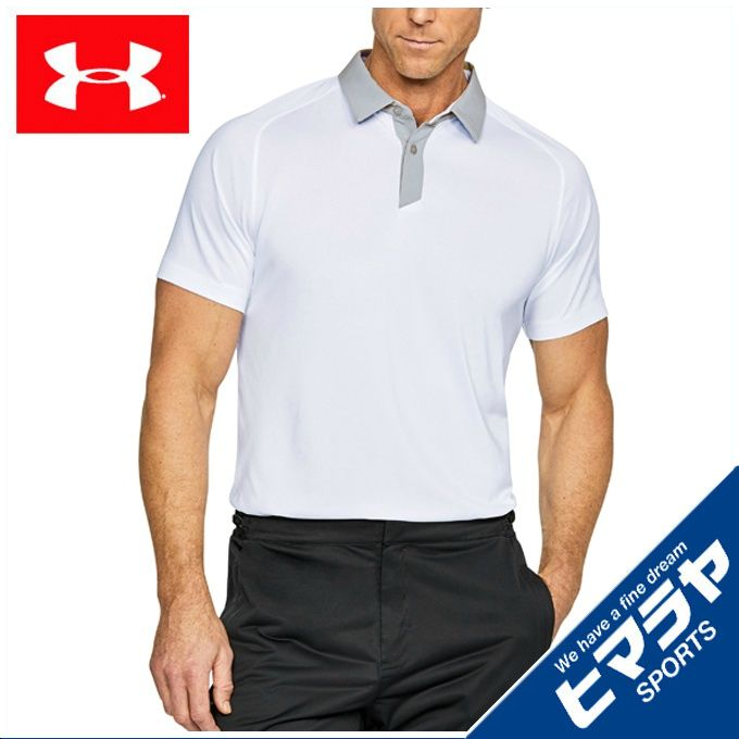 アンダーアーマー UNDER ARMOUR ゴルフウェア ポロシャツ 半袖 メンズ スレッドボーンポロ 1306111-100
