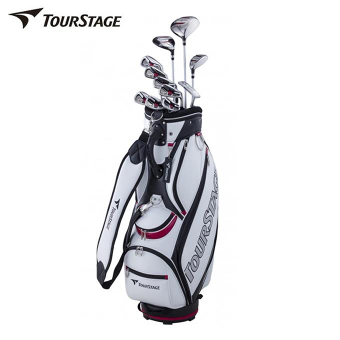 ツアーステージ TOURSTAGE ゴルフ セットクラブ メンズ TOURSTAGE V002 キャディバッグ付11本セット V2GBKC V2GSKC