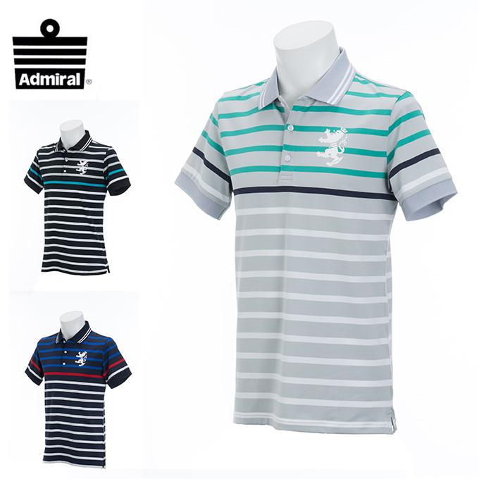 アドミラル Admiral ゴルフウェア ポロシャツ 半袖 メンズ パネルBD ADMA831