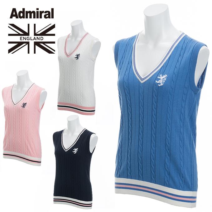 アドミラル Admiral ゴルフウェア ベスト レディース ケーブルベスト ADLA807