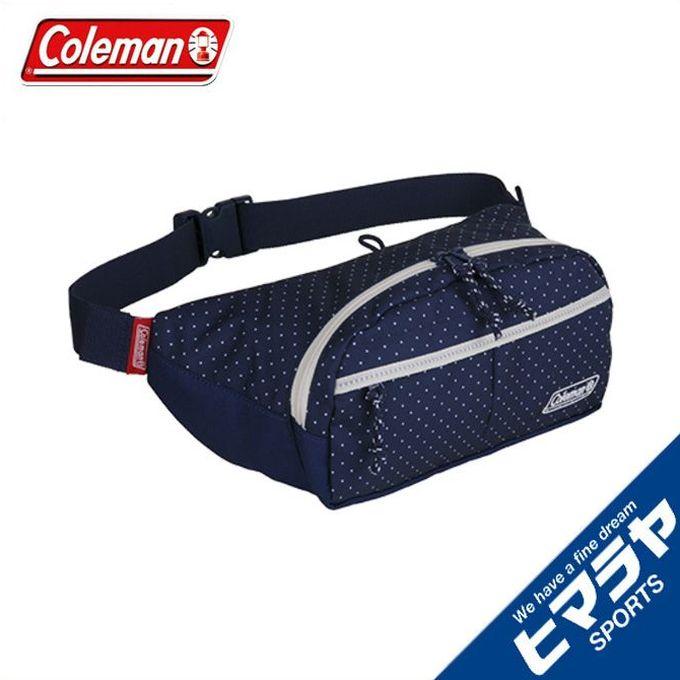 コールマン ウエストバッグ メンズ レディース ウォーカーウエスト ネイビードット 2000032890 Coleman