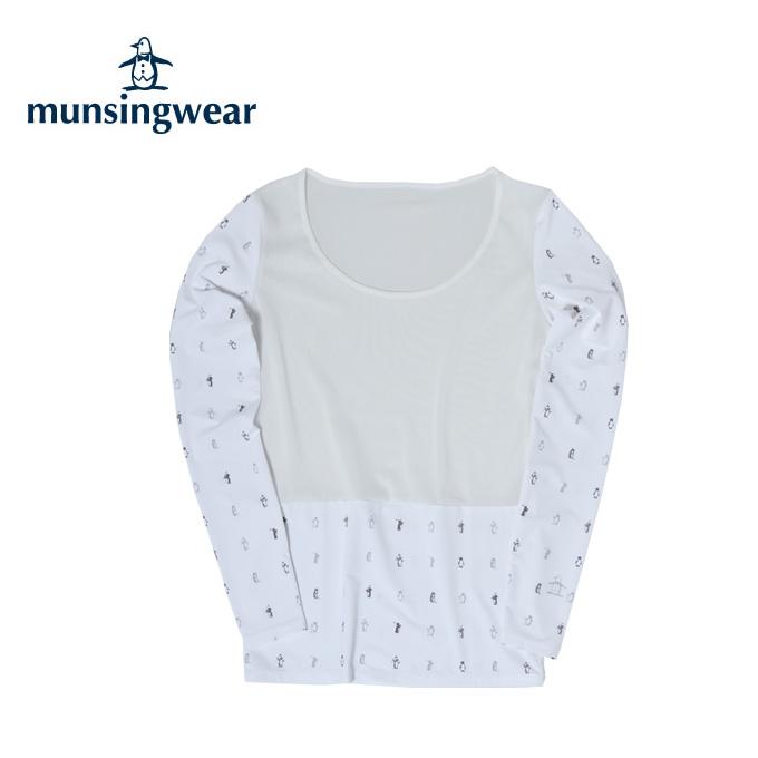 マンシング Munsingwear ゴルフ アンダーウェア 長袖 レディース 部分メッシュアンダーシャツ MGWLJM02