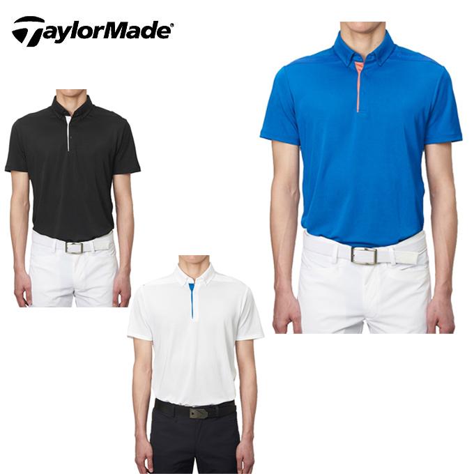 テーラーメイド TaylorMade ゴルフウェア ポロシャツ 半袖 メンズ ベンチレーション ボタンダウンS/Sポロ KL900