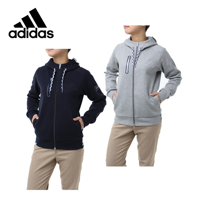 アディダス ゴルフウェア スウェット レディース adicross ストレッチ フルジップ スウェット アディクロス CCO81 adidas
