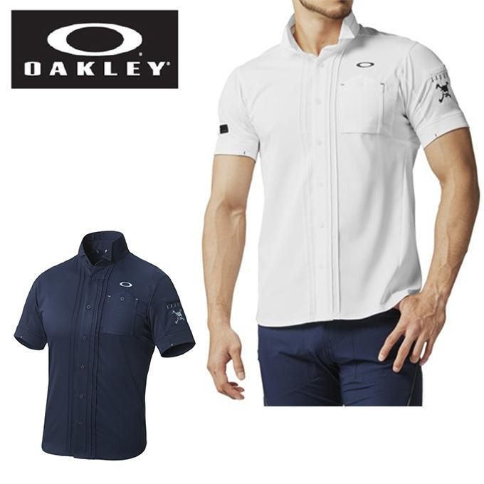 オークリー ゴルフウェア シャツ 半袖 メンズ SKULL TUCK COL CASSE SHIRTS 2.0 スカルタックコルカッセシャツ 401894JP OAKLEY