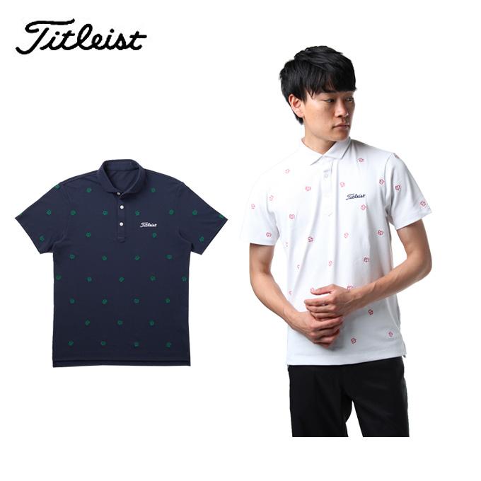 タイトリスト Titleist ゴルフウェア ポロシャツ 半袖 メンズ クローバー刺繍カノコシャツ TSMC1824