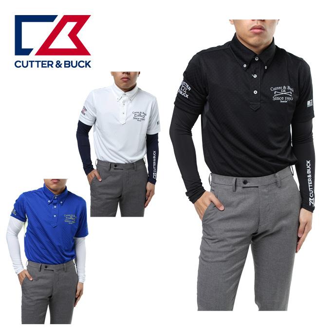 カッター&バック CUTTER&BUCK ゴルフウェア ショートパンツ メンズ ギンガム半袖ポロ+Vネックアンダー CGMLJA00W