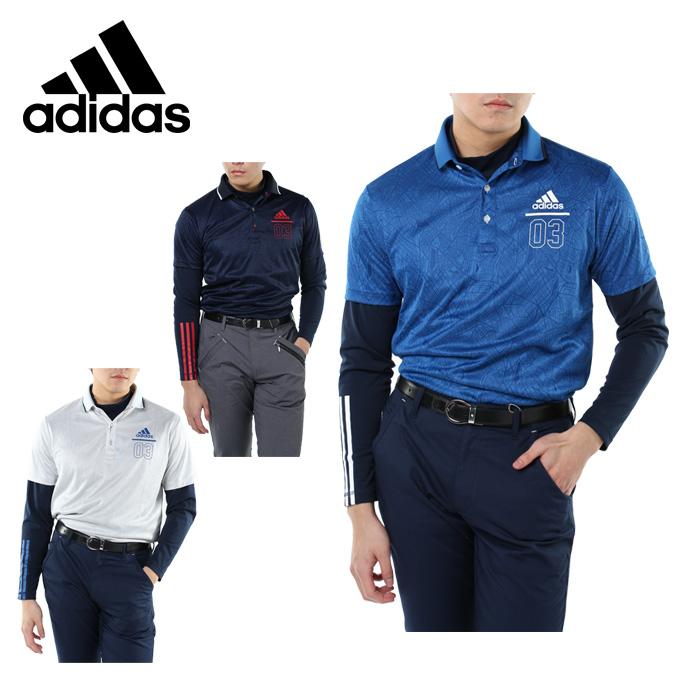 アディダス ゴルフウェア シャツセット メンズ JP adicross シティパターン レイヤードポロ アディクロ CCO38 adidas