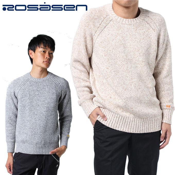 ロサーセン ROSASEN ゴルフウェア セーター メンズ ローゲージコットンニット 044-17210