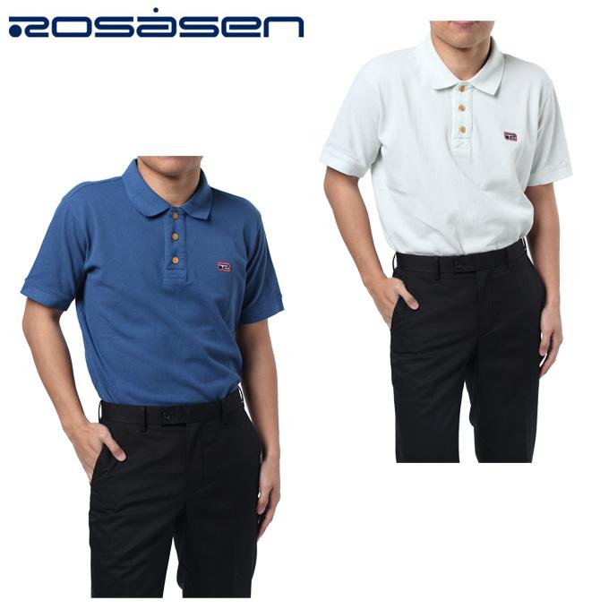 ロサーセン ROSASEN ゴルフウェア ポロシャツ 半袖 メンズ オーバーダイカノコ 044-27240