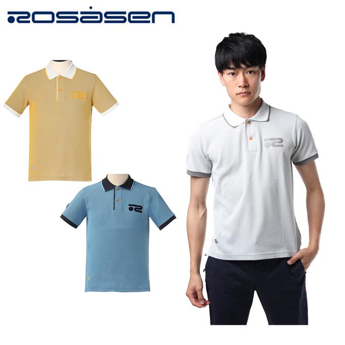 ロサーセン ROSASEN ゴルフウェア 半袖 メンズ Waffle Polos ワッフル ポロ 044-27242