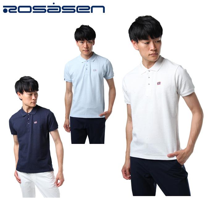 ロサーセン ROSASEN ゴルフウェア ポロシャツ 半袖 メンズ ボーダーパイルポロ 044-27342