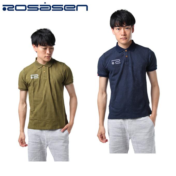 ロサーセン ROSASEN ゴルフウェア ポロシャツ 半袖 メンズ 天竺ジャガードポロ 044-27444
