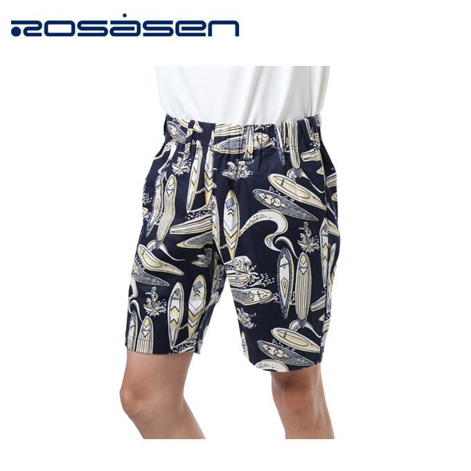 ロサーセン ROSASEN ゴルフウェア ショートパンツ メンズ サーフ柄ストレッチ 044-77443