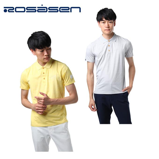 ロサーセン ROSASEN ゴルフウェア ポロシャツ 半袖 メンズ クールコアメランジ半袖ポロ 044-27543
