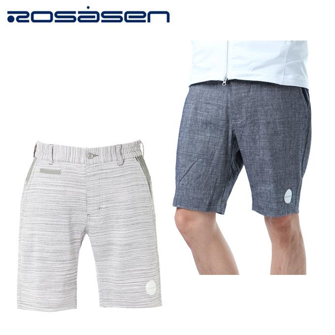 ロサーセン ROSASEN ゴルフウェア ショートパンツ メンズ メランジリネンパンツ 044-77542