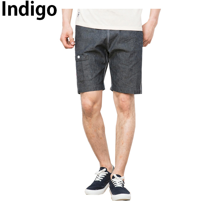 チャムス CHUMS  ハーフパンツ メンズ Cotton Linen Indigo Shorts コットンリネンインディゴショーツ CH03-1091