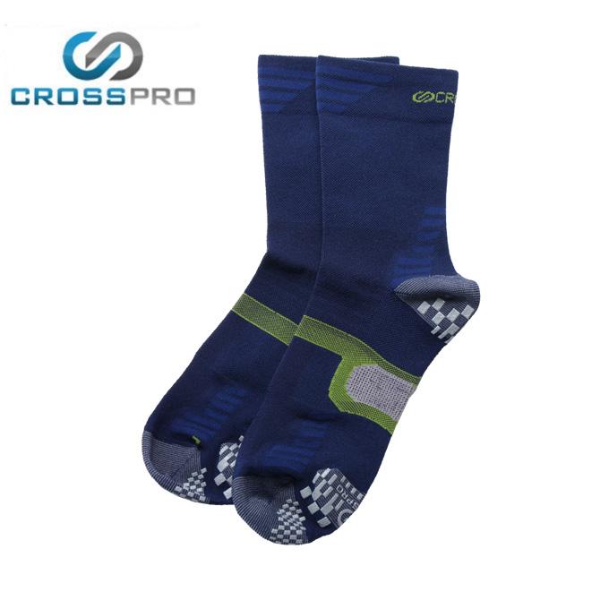 クロスプロ CROSS PRO トレッキングソックス メンズ レディース 3DFアーチパネル薄手クルー Z378-201-24-79