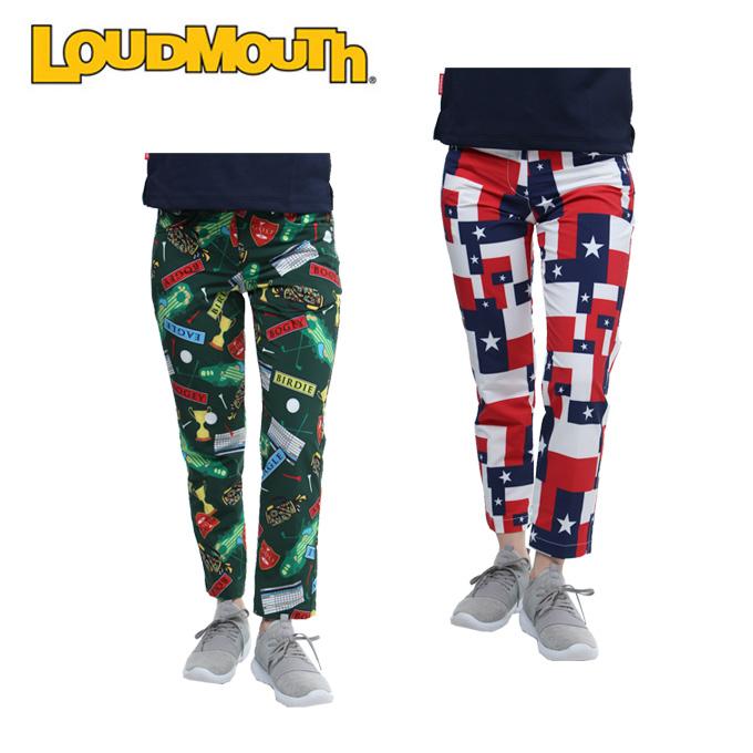 ラウドマウス LOUDMOUTH ゴルフウェア ロングパンツ レディース 二重織柄 768-352