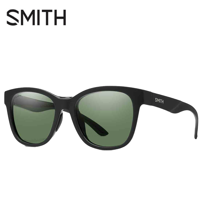 【5/5はクーポンで1000円引&エントリーかつカード利用で5倍】 スミス SMITH 偏光サングラス メンズ レディース Caper Matte Black ケイパー CAPER MT BLK CP P GY G