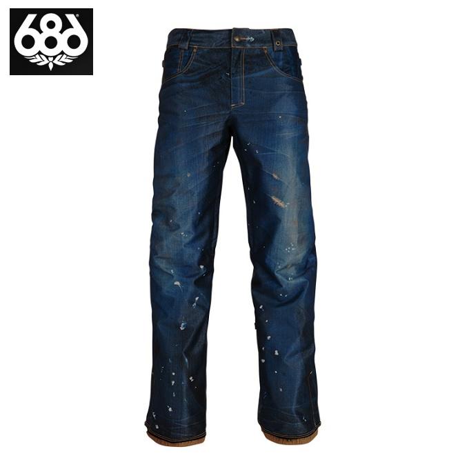 シックスエイトシックス 686 スノーボードウェア パンツ メンズ Deconstructed Denim Insulated Pant KCR209