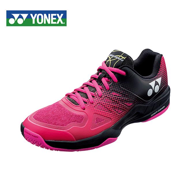 ヨネックス テニスシューズ オムニ クレー メンズ レディース パワークッションエアラスダッシュ2GCワイド SHTAD2WG-181 YONEX オムニクレー ブラック/ピンク