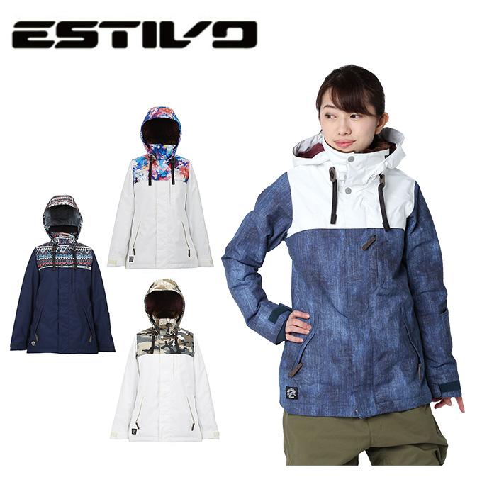 エスティボ ESTIVO スノーボードウェア ジャケット レディース SNB JK EVW1822