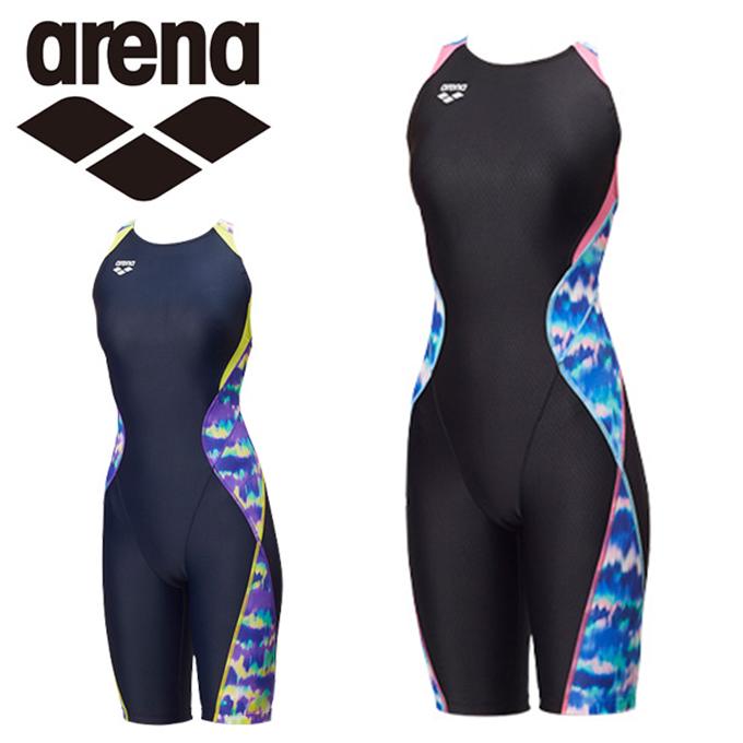 アリーナ arena FINA承認 競泳水着 ハーフスパッツ レディース セイフリーバックスパッツ FAR-8564W