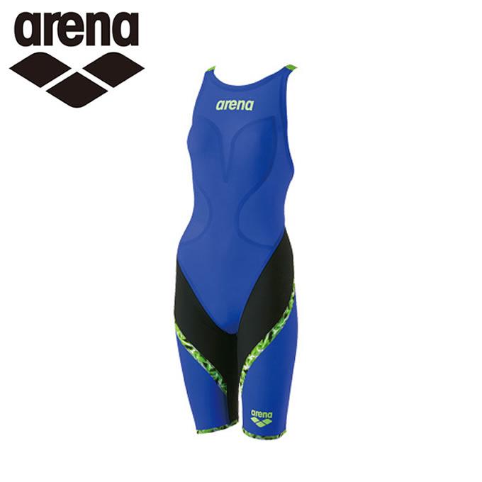 アリーナ arena FINA承認 競泳水着 ハーフスパッツ レディース AQUAFORCE LIGHTNING フラットクロスバック ARN-M6000W