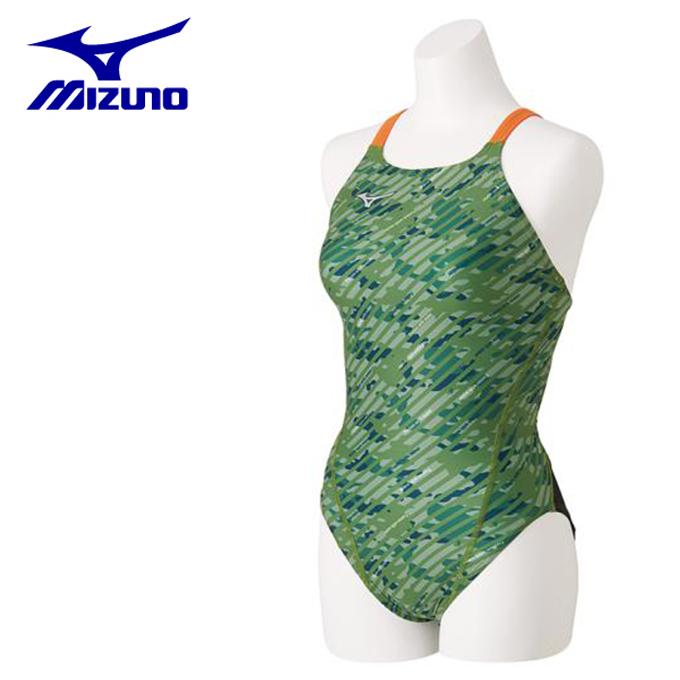ミズノ トレーニング水着 レディース ミディアムカット N2MA8766-38 MIZUNO
