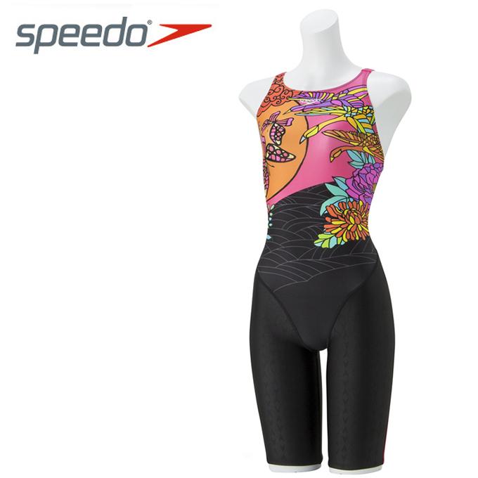 スピード speedo FINA承認 競泳水着 ハーフスパッツ レディース FLEX Σ セミオープンバックニースキン VI SD48H58