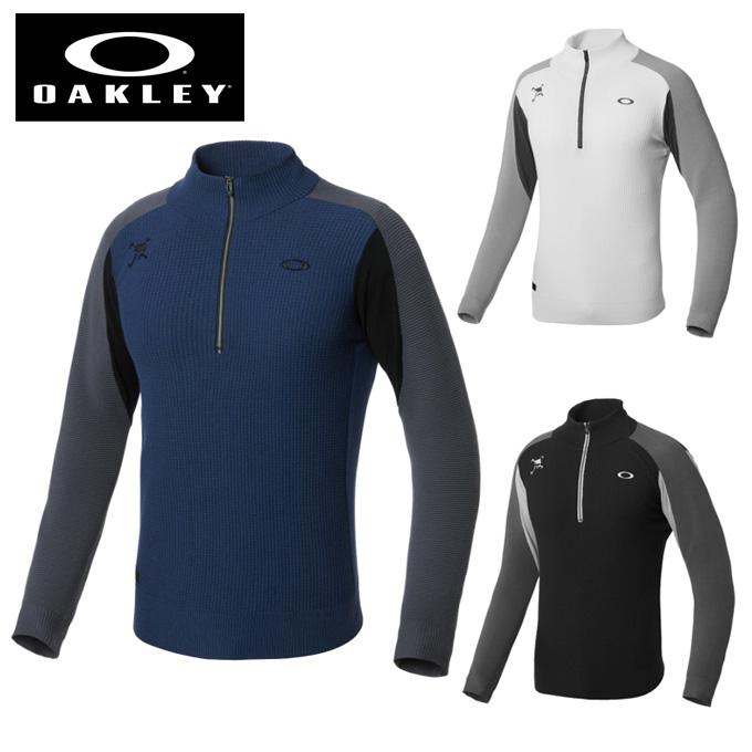 オークリー ゴルフウェア セーター メンズ スカル SKULL DIVIDED ハーフジップセーター 461708JP OAKLEY