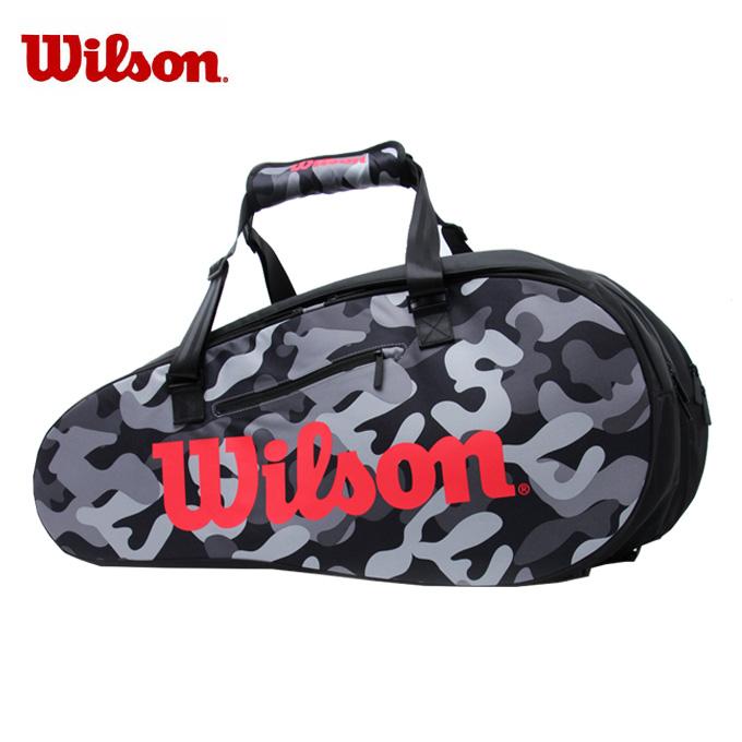 ウィルソン テニス バドミントン ラケットバッグ 15本用 SUPER TOUR CAMO スーパーツアーカモ WRZ831814 Wilson メンズ レディース