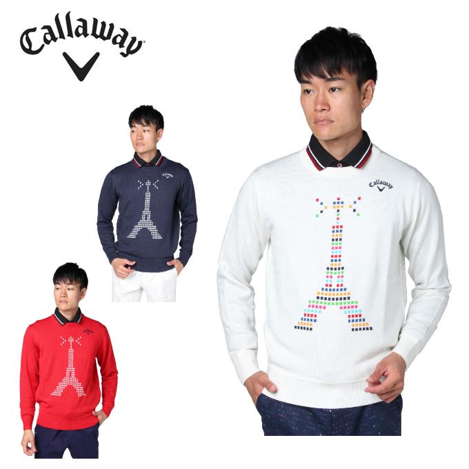 キャロウェイ ゴルフウェア セーター メンズ クルーネックニット 241-8260503 Callaway
