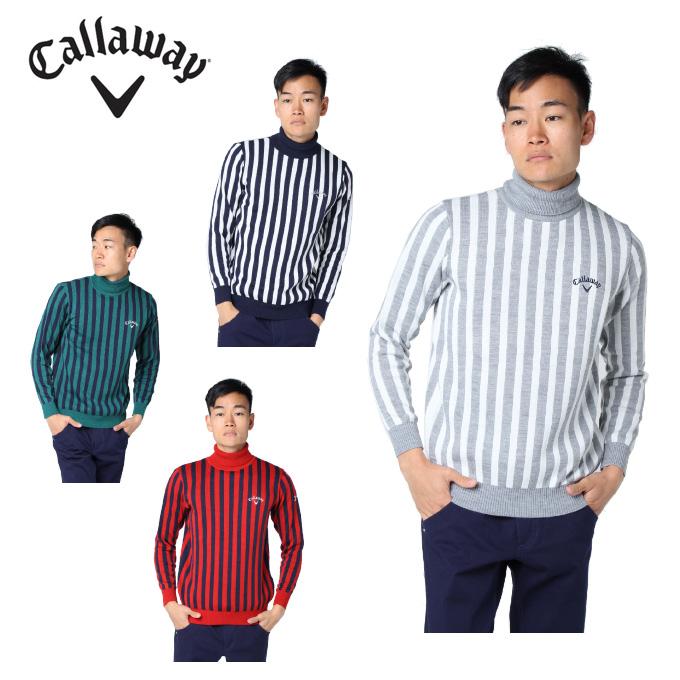 キャロウェイ ゴルフウェア セーター メンズ ストライプニット 241-8260515 Callaway