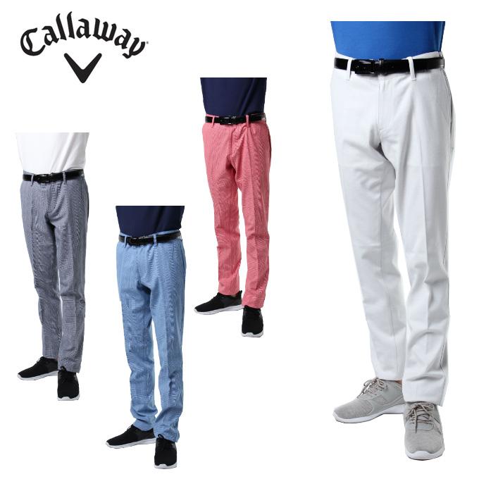 キャロウェイ ゴルフウェア ロングパンツ メンズ グレンチェックテーパードパンツ 241-8220502 Callaway