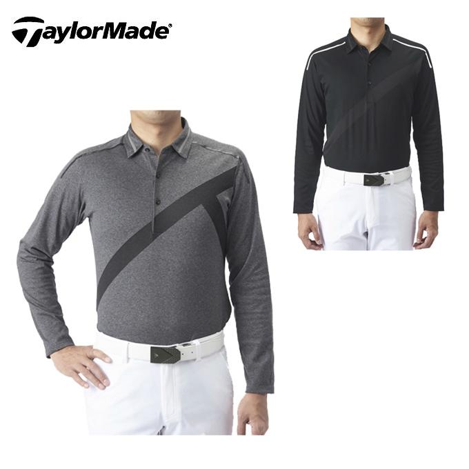 テーラーメイド TaylorMade ゴルフウェア ポロシャツ 長袖 メンズ シーズナル グラフィックジャカードL/Sポロ KX678