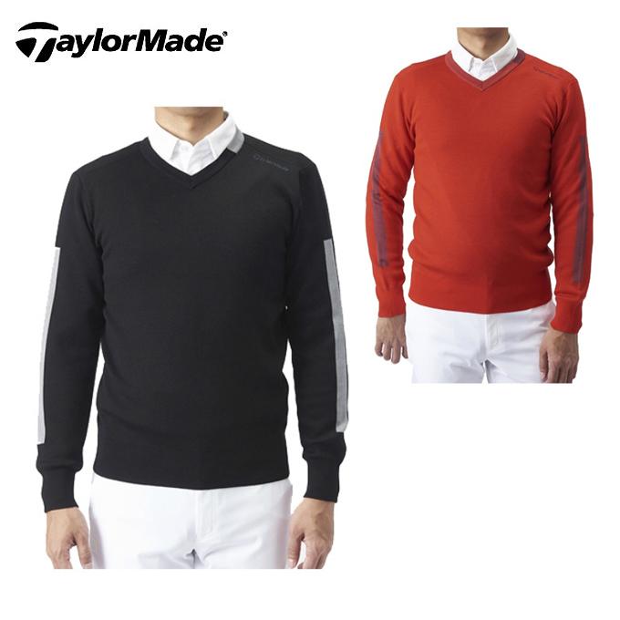 テーラーメイド TaylorMade ゴルフウェア セーター メンズ Vネック セーター KX696