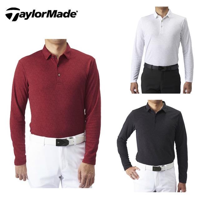 テーラーメイド TaylorMade ゴルフウェア ポロシャツ 長袖 メンズ テイラード グラフィックジャカードL/Sポロ KX674