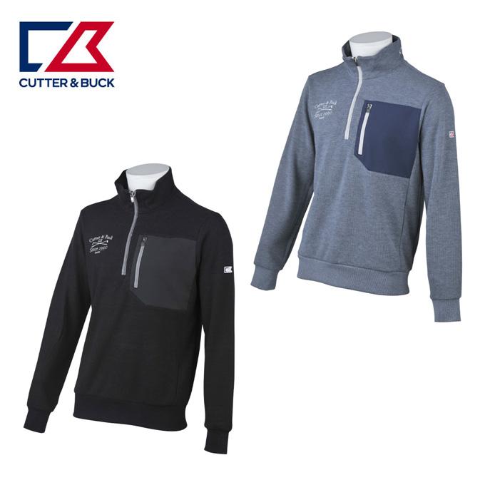 カッター&バック CUTTER&BUCK ゴルフウェア トレーナー メンズ ヒートナビWフェイストレーナー CGMMJL50