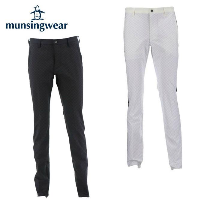 マンシング Munsingwear ゴルフウェア ロングパンツ メンズ サイドラインジャージプリントパンツ MGMMJD05